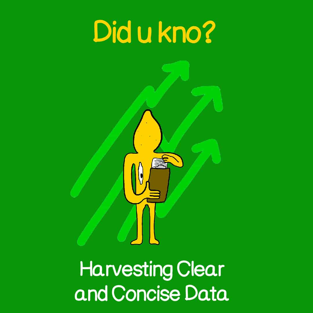 havesting clear and concise data 1