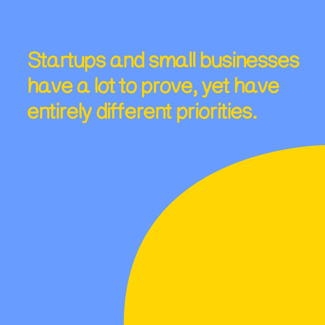 startup small business focus